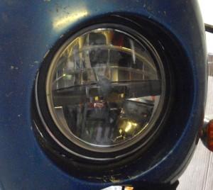 Trucklite LED-Rundscheinwerfer mit Alu-Adapterring im Bosch-Scheinwerfer