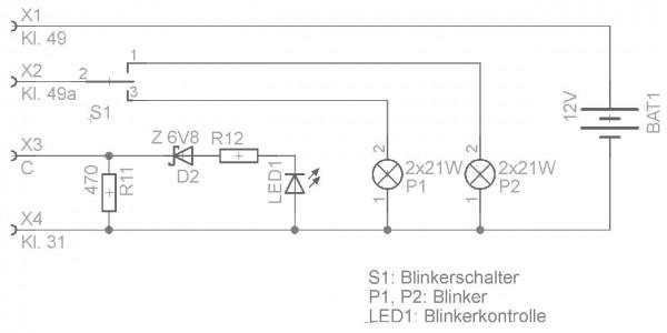 Beschaltung LED
