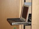 LCD-Konsole im Betriebszustand